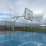 Netball and basketballs goals