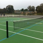 Heavy duty  square powder-coated tennis posts
