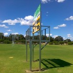 Steel fabrication - Football oval scoreboard