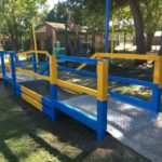 Perth custom steel fabrication of disabled ramp & rubber mat bridge