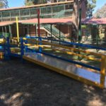 Custom steel fabrication wheelchair ramp for Gladys Newton Special School, Perth