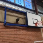 Wall-mounted side swing basketball goals in Rockingham, WA