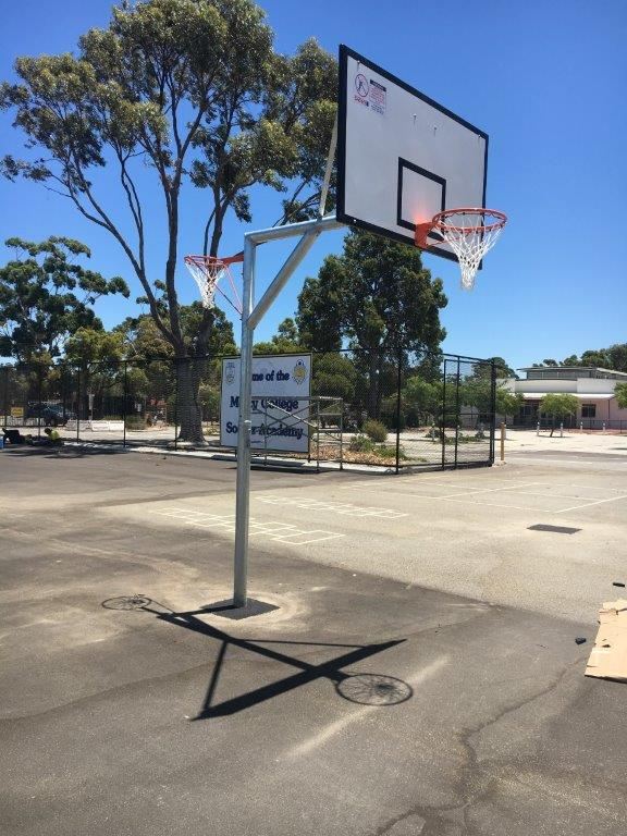 Reversible Basketball Netball Units at Mercy College